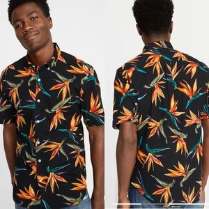 NWT Old Navy Birds of Paradise Button Down
